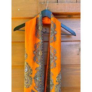 BOHO orange and purple lightweight scarf
